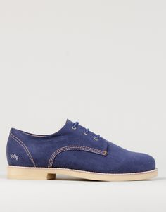 Gram 380g Washed Navy Linen Shoes - Kaeho Australia