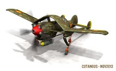 My last design, Cu-161 A, is a multirole, carrier based, airplane. It can be used as a reconnaisance aircraft, as a precision dive bomber and as a torpedo carrier. Even as a fighter, if the necessi...