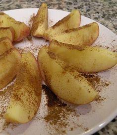 Healthy Snack - Microwave Cinnamon Apples.