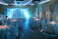 Winter Wonderland Winter Wonderland, Wedding Venues, Wedding Stuff, Wedding Ideas, Table Decorations, Room, Home Decor, Wedding Reception Venues, Bedroom