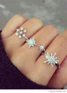 amazing-silver-snowflake-rings More