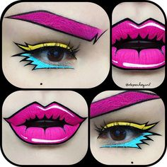 Fireworks Pop Art  Lips - Prom Night Liquid Matte by @jeffreestarcosmetics and…