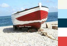 paleta de colores. Saint Tropez tones