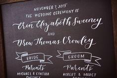 Trentadue Wedding - Brown Fox Calligraphy