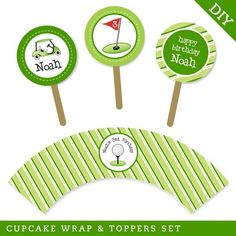 Golf party  Personalized DIY printable cupcake by chickabug, $15.00