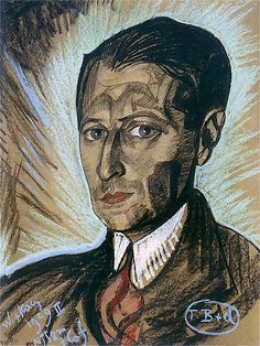 Portrait of Julian Tuwim (Stanislaw Witkiewicz - ) Poland History, Early Middle Ages, Cat Posters, Writers And Poets, 1920s Art, Coffee And Books, Egyptian Art, Face Art, At Least