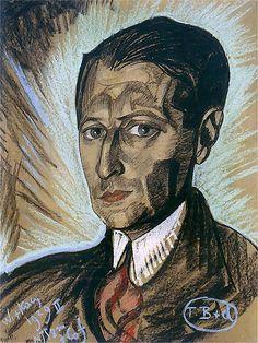 Portrait of Julian Tuwim, 1929 - Witkacy