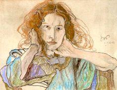 """Stanislaw Wyspianski """"Portrait of Irena Solska"""", 1904"""