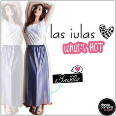 Ya te vamos adelantando lo que va a ser la nueva temporada:  ¡El brillo sigue a full! Lucite con esta falda de Las iulas. www.dondecomprarmejor.com