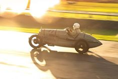 Amilcar CGSS 1929 battles in the late-day rain at the VSCC Goodwood Autumn Sprint.