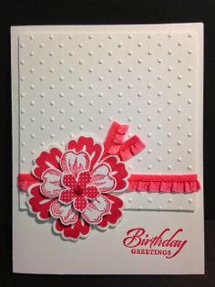 Flower Shop, Petite Petals, Mixed Bunch, Wet Lands, Birthday Card, Stampin' Up! Rubber Stamping, Handmade Cards