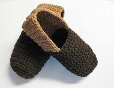 Pantoufles faciles au crochet pour hommes Crochet Slipper Pattern, Crochet Slippers, Crochet Patterns, Cast Off, Womens Slippers, Baby Shoes, Couture, Stitch, Etsy