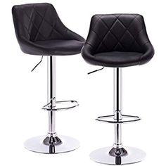 CLP Tabouret de bar DUBLIN ergonomique assise similicuir réglable en