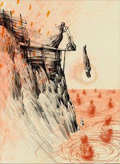 Ghostly illustrations by Lars Henkel