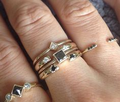 Shop by Trend | Jennie Kwon Rings - perfect for those that love making a big statement with minimal jewelry!