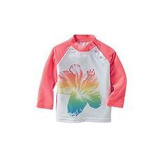 UPF 50+ Girl's Infant Rash Guard: Sun Protective Clothing - Coolibar