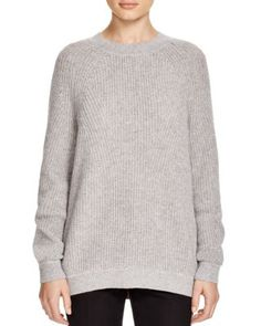 Vince Directional Rib Wool-Cashmere Sweater | Bloomingdale's