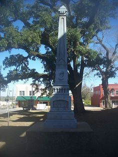 This monument to the Confederate States of America is in downtown Marianna, Florida.
