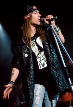 Axl Rose, leading singer of american rock band Guns N' Roses