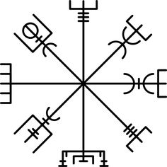 A Vegvísir (Icelandic 'sign post') is an Icelandic magical stave intended to help the bearer find their way through rough weather. The symbol is attested in the Huld Manuscript, collected in Iceland by Geir Vigfusson in 1860 (but consisting of material of earlier origin) Tags