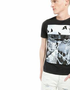 Bershka España - Camiseta estampado distorsionado