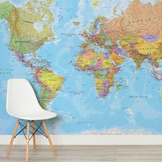 political-map-square-1-wall-murals