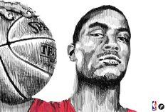 Artwork about Derrick Rose