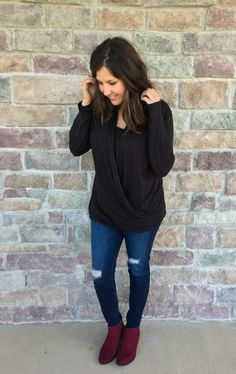 wine-booties-black-shirt-outfit