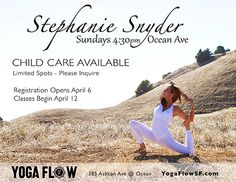 Stephanie Snyder now at Yoga Flow SF!