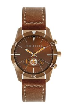 Ted Baker London | Men's Leather Strap Quartz Sport Watch | Nordstrom Rack