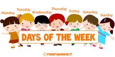 Giorni della Settimana in Inglese per Bambini: Schede Didattiche da Stampare