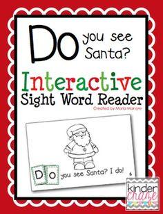 """""""Do You See Santa?"""" Interactive Sight Word Reader"""