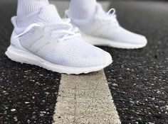 """Adidas' all white colorway returns with the release of the adidas Ultra Boost 3.0 """"Triple White"""" - The third generation of the infamous colorway #Dapperfeet #LetTheButlerDoIt"""