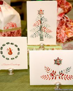 Punched Holiday Cards  Make use of old postage stamps and give a personal touch to your holiday cards with this wonderful craft.    How to Make the Punched Holiday Cards