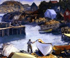 Cleaning His Lobster Boat George Wesley Bellows - 1916