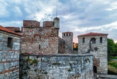 Baba Vida Fortress at sunset Bulgarian, Eastern Europe, Sunset, Mansions, Landscape, History, Country, House Styles, World