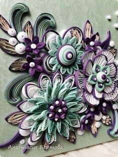 *QUILLING ~ Decor items Quilling Paper strips February 3 photos