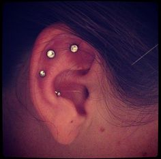 My unique 3 earring piercing by aerik!