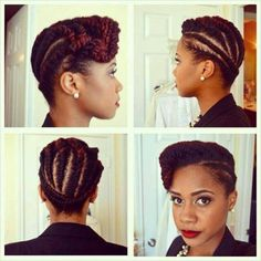 50 handy and practical flat twist hairstyles if you have afro textured hair . - 50 handy and practical flat twist hairstyles If you have afro textured hair, it is important to take - Natural Hair Twist Out, Natural Hair Updo, Natural Hair Care, Natural Hair Styles, Flat Twist Updo, Twist Ponytail, Voluminous Ponytail, Twist Cornrows, Long Hairstyles