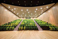 salle ciné avec fauteuils verts