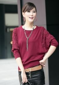 Winter Oversize Dolman Sleeve Women's Knitting Sweater - BuyTrends.com