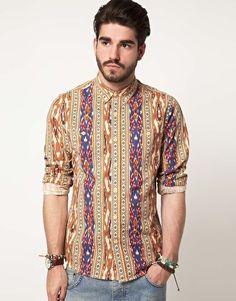ASOS Shirt In Aztec Print    £34.00