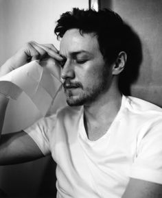 James McAvoy. I told him not to cry. I told him that it's natural to be overcome by emotion because of a love like ours. I told him I'd hold him until he fell asleep.