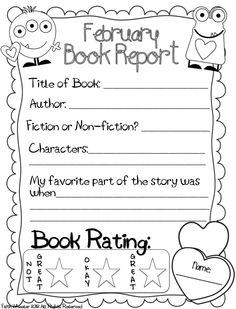 February Book Report Freebie - Enjoy!!!!