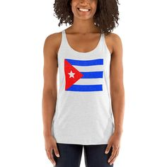 This flag print is in a unique, pointillist design giving it a distressed look. Great gift item for Puerto Rican pride. :) This tank comes in white and is available in multiple sizes. Check out my other matching items: Cuban Flag, Puerto Rican Flag, Raglan Shirts, Puerto Ricans, Knit Beanie, Racerback Tank, Athletic Tank Tops, Tank Man, Mens Tops