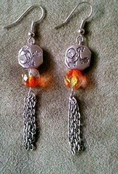 Autumn Rain Earrings by Charma11 on Etsy, $7.00