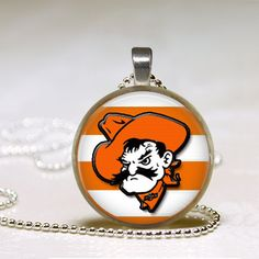 Oklahoma State University Pendant  Orange and by happytobecreating, $6.25