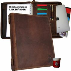 Retro Stil, Messenger Bag, Satchel, Ring Binder, Leather Bag, Crossbody Bag, Backpacking, School Tote