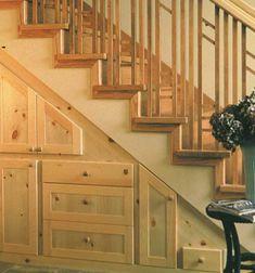 60 idées de rangement et aménagement sous l'escalier !