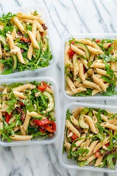 The BEST Meal Prep Recipes Mediterranean Pasta Salad Healthy healthy lunch ideas meal Mediterranean Pasta prep Recipes Salad Best Meal Prep, Healthy Meal Prep, Healthy Dinner Recipes, Healthy Snacks, Vegetarian Recipes, Yummy Healthy Food, Healthy Dishes, Healthy Smoothies, Weekly Lunch Meal Prep